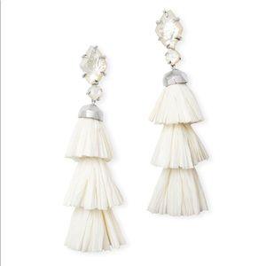 Kendra Scott White/Silver Denise Earrings